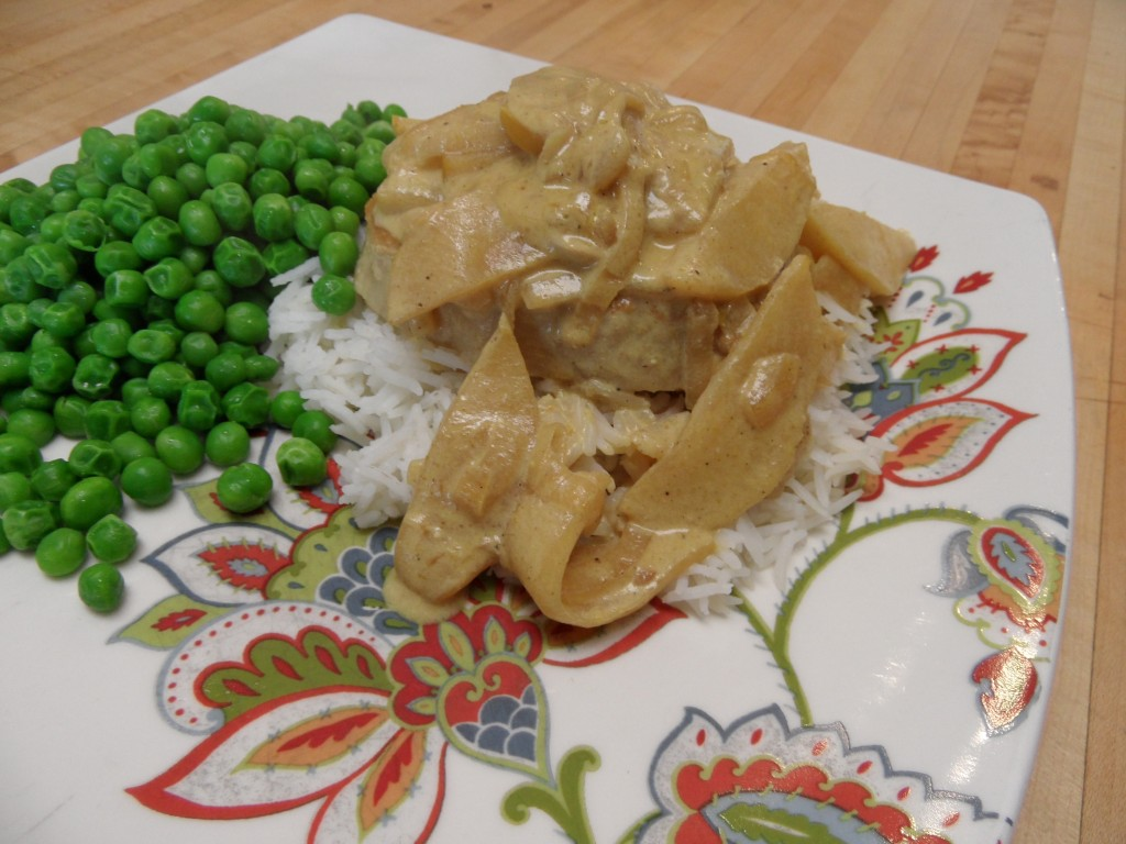Pork Chops with Apple Curry Sauce and Jasmine Rice | An Inspired ...