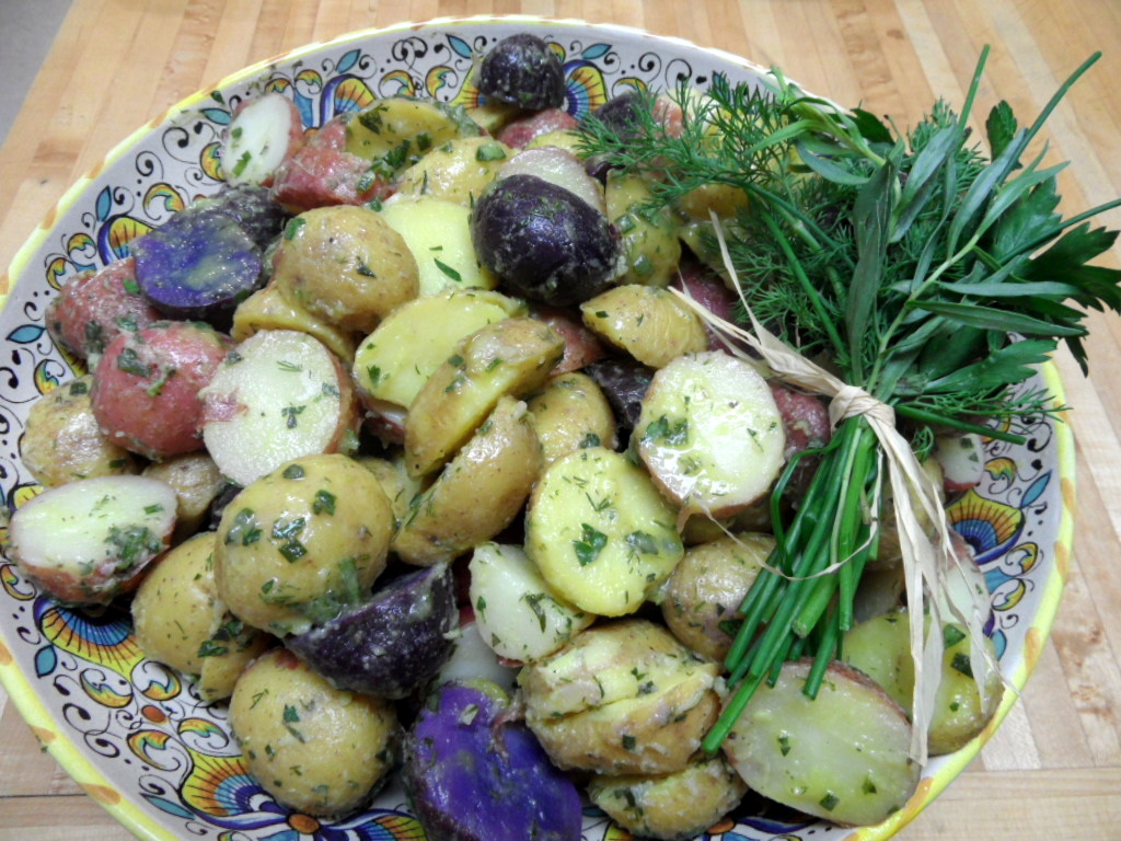 New Potato Salad with Tarragon, Dill, Chives, and Parsley ...