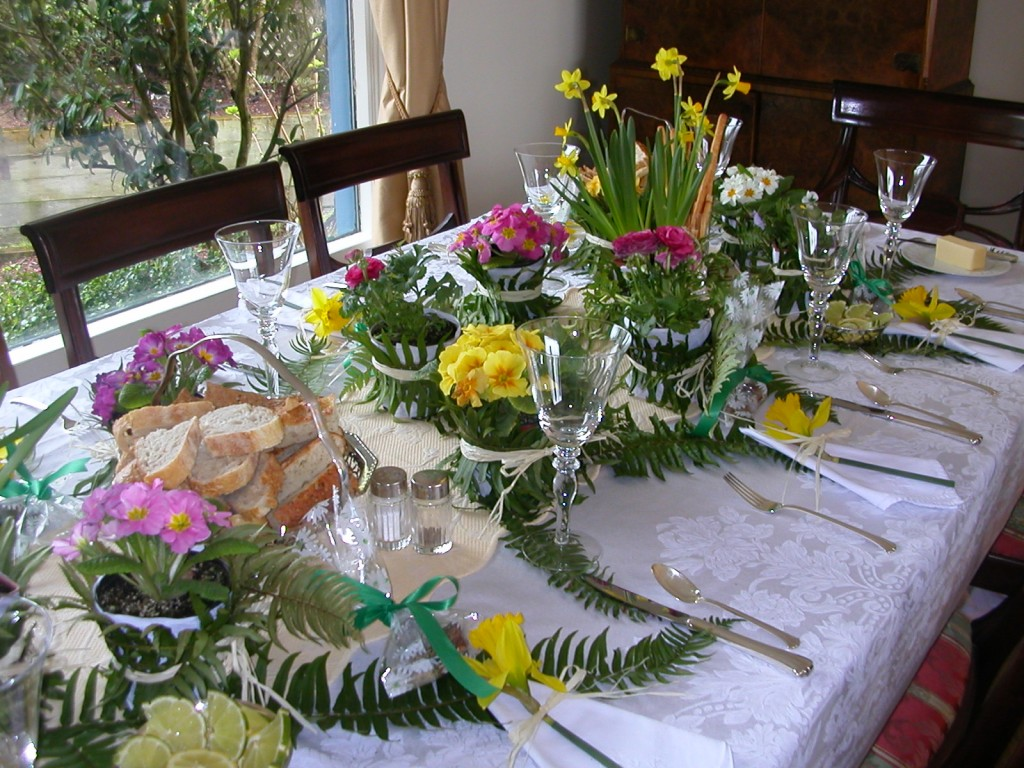 Spring table decoration an inspired kitchen