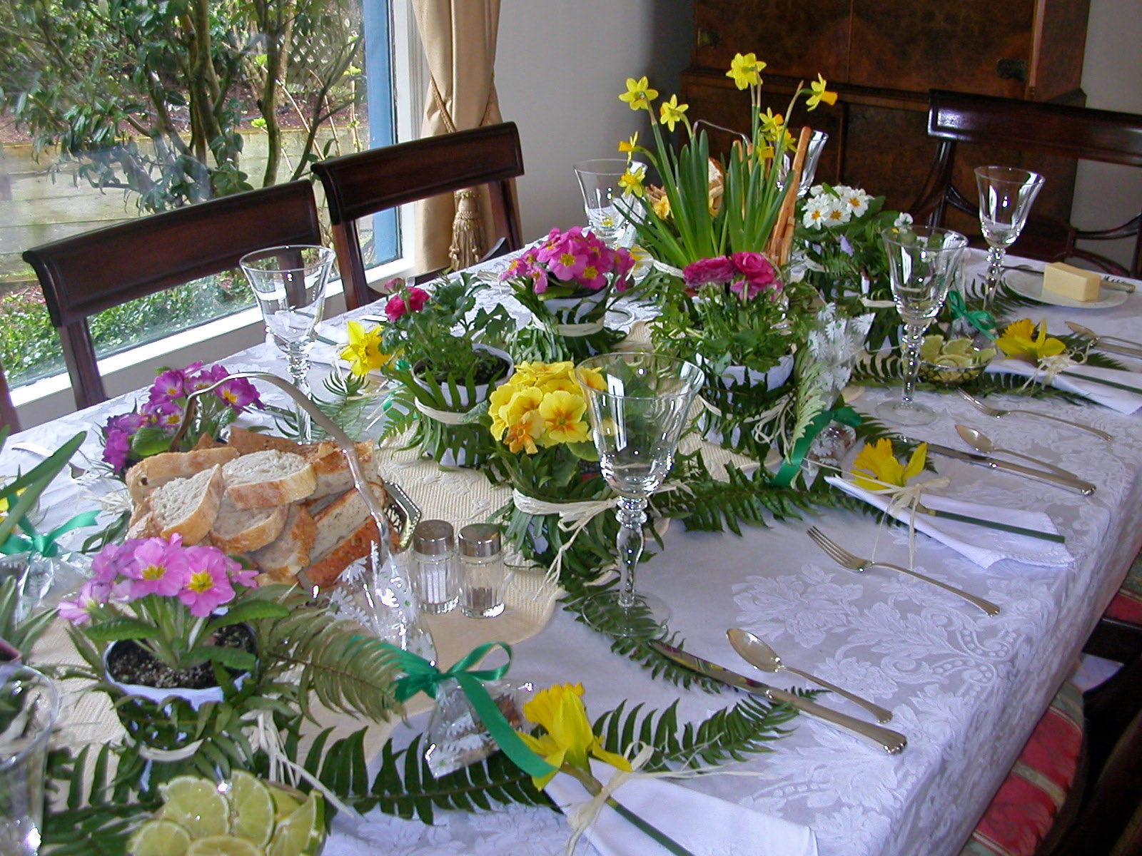 Spring luncheon table decoration an inspired kitchen