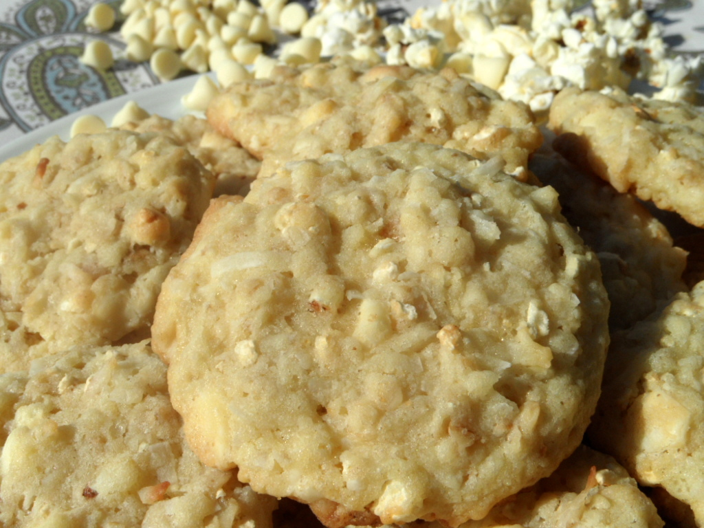 Caramel Corn, Coconut and White Chocolate Chip Cookies | An Inspired ...