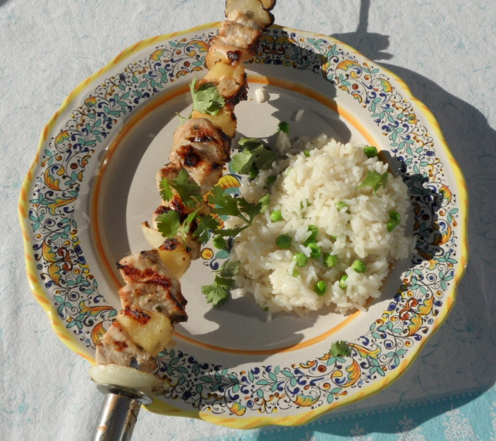 Thai Pork and Pineapple Kebabs with Coconut Rice Pilaf ...
